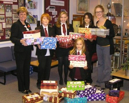 Shoe boxes from Glebelands 2011