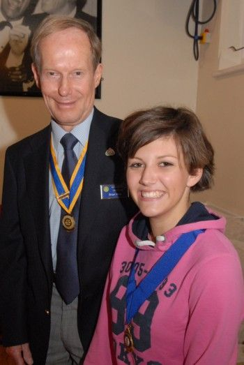 New Interact Club President with President Brian Vine