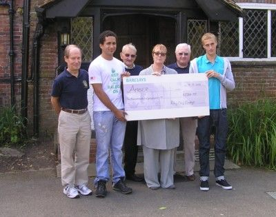 Presentation of cheque to Amber Foundation 2012