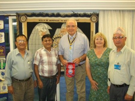Visitors from Nepal, July 2013