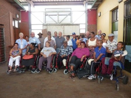 S. Africa wheelchair donation (Somerset West)