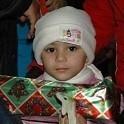 Romania shoe box child